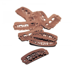 Balmain Extension Clips Large Brown 10 st | 8719638140805
