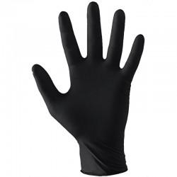Black Vinyl Gloves L 100 st